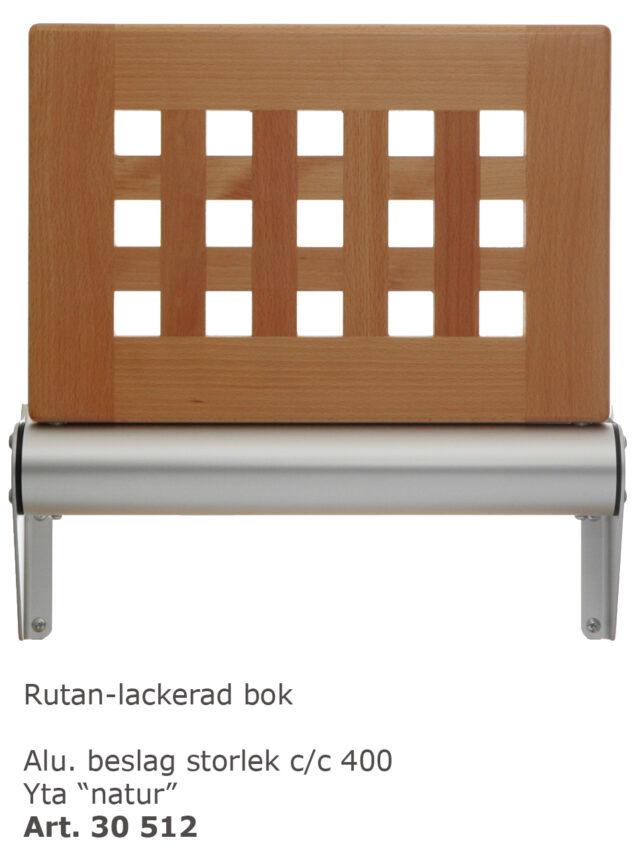 Väggstol Rutan lackad bok