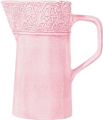 Ljusrosa spets kanna 120cl Mateus
