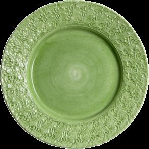 Grön spets tallrik 25cm
