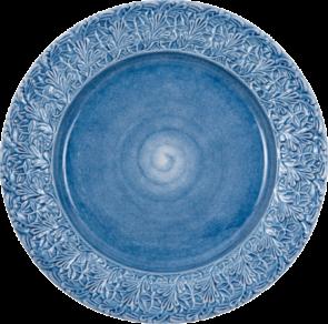 Ljusblå spets tallrik 25cm