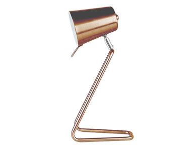 Table lamp Z metal copper satin h35