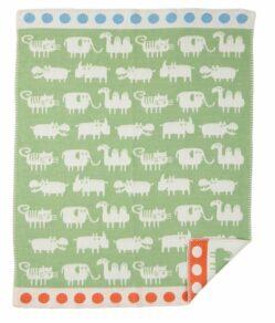 Africa grön  bomullsfilt Klippan