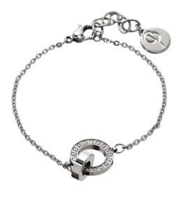 Eternity orbit bracelet thin steel