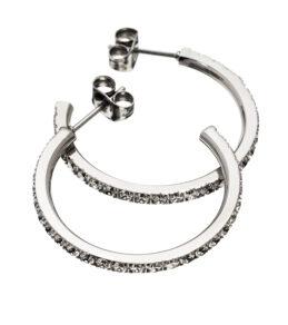 Glow earrings small steel