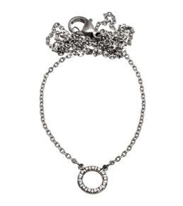 Glow necklace mini steel