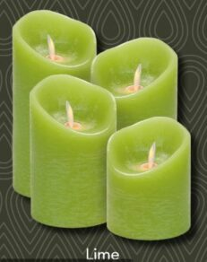 Magic flame candle 79×1727 lime timer