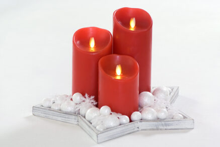 Magic flame candle 79×178 red timer