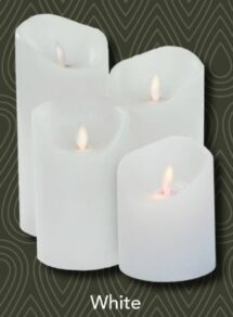 Magic flame candle 79×178 mm, wh timer