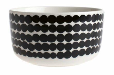 Bowl 5dl white black