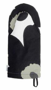 Pieni Unikko oven mitten white, black, olive