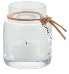 Värmeljuslykta glas d5 h8 cm