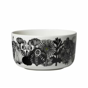 Oiva/Siirtolapuutarha bowl 5 dl white, black, green