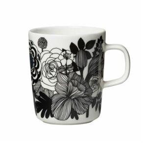 Oiva/Siirtolapuutarha mug 2,5 dl white, black, red