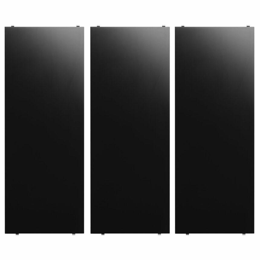 string hyllplan 3-pack 78x30 svart
