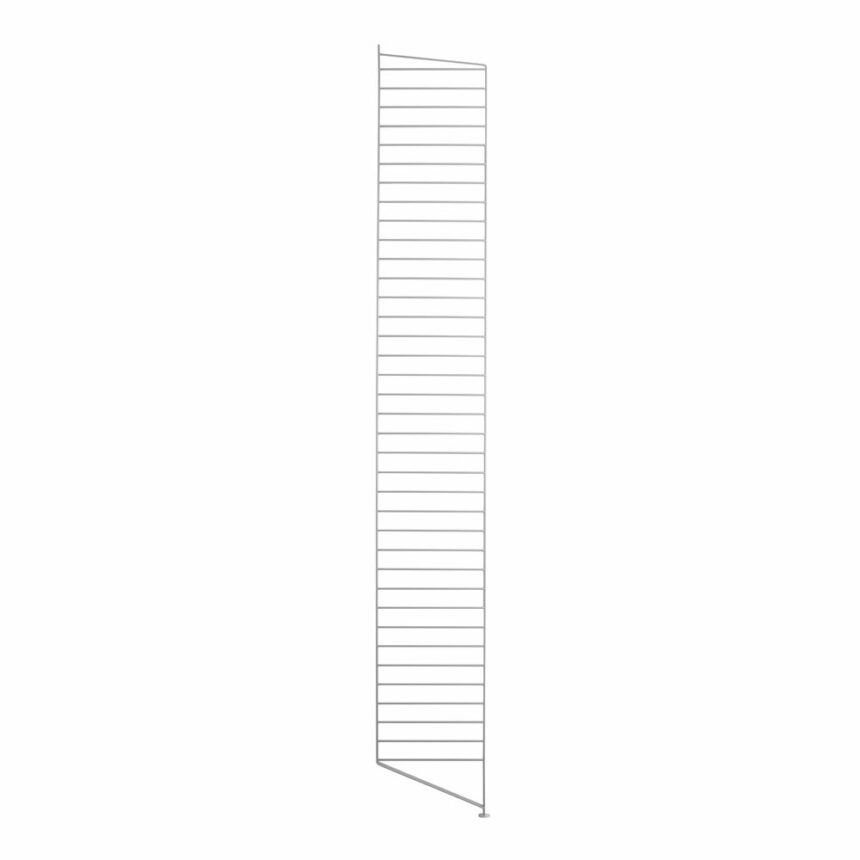 Stringhylla golvgavel grå 2-pack 200x30