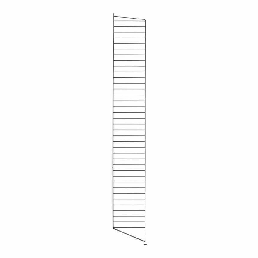 Stringhylla golvgavel svart 1-pack 200x30