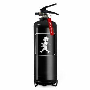 Brandsläckare 2kg, vit med svart emblem