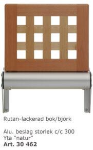 Väggstol Rutan lackad bok/björk