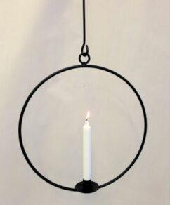 Ljusring häng.36cm svart