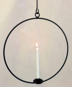 Ljusring häng.45cm svart