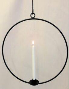 Ljusring häng.58cm svart