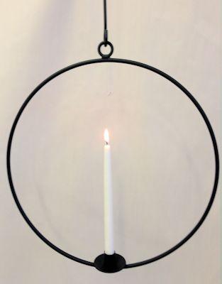 Ljusring häng 58cm svart