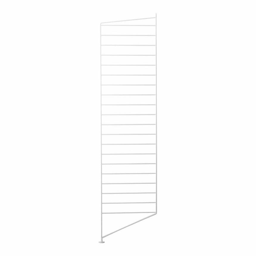 stringhylla golvgavel vit 115X30