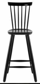 Lilla Åland barnstol Bets h52,  52 svart
