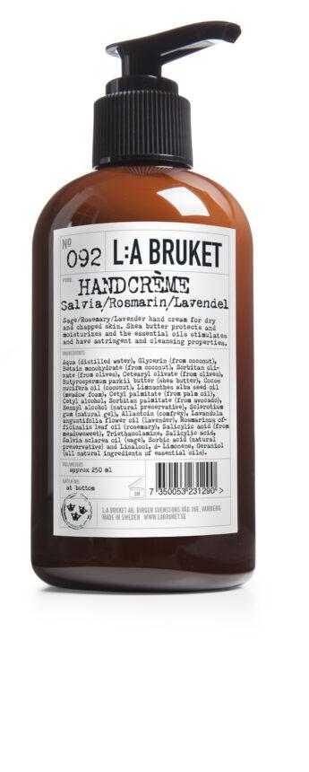 Handkräm Salvia Rosmarin Lavendel L:A Bruket