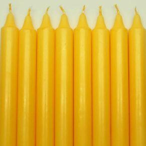 Kronljus 100% stearin gul 28cm