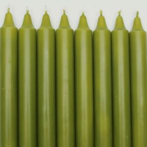 Kronljus 100% stearin oliv 28cm