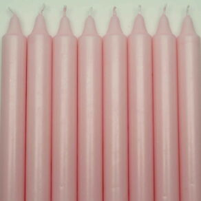 Kronljus 100% stearin rosa 28cm