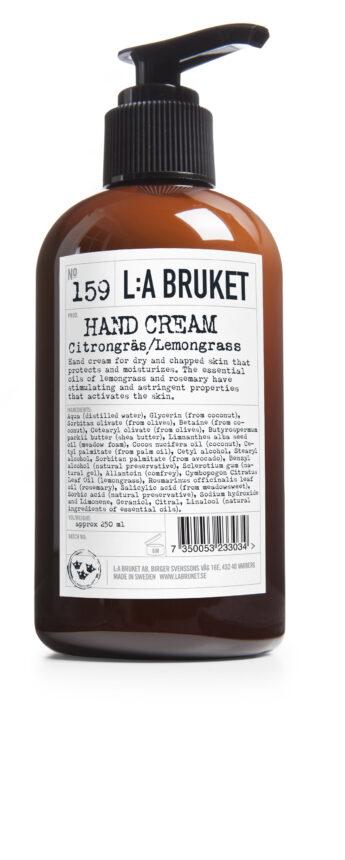 Handkräm Citrongräs L:A Bruket 250ml