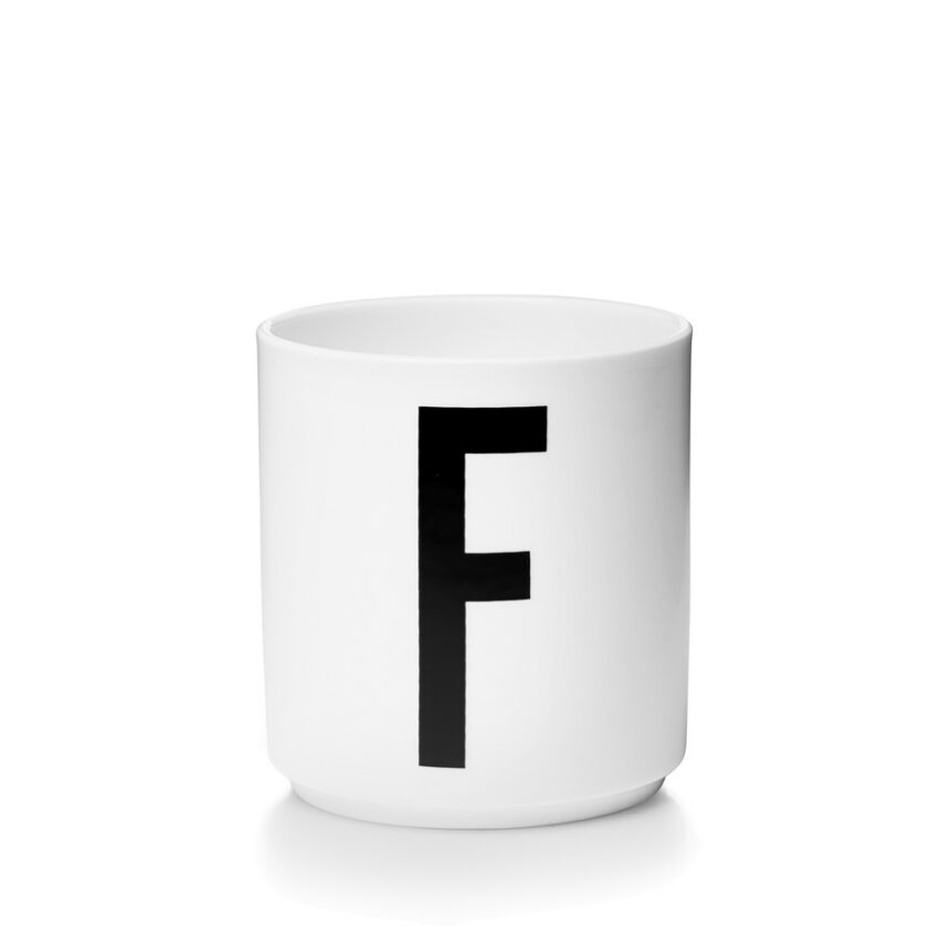 Design Letters F Porslin Mugg Arne Jacobsen