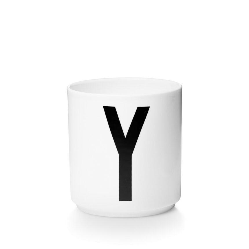 Design Letters Y Porslin Mugg Arne Jacobsen