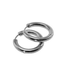 Marie Earrings Creole M Steel PG 3
