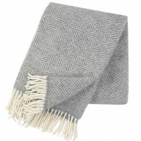 Samba grå ullpläd 130×200