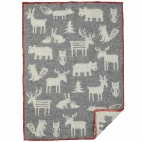 Forest grå ekologisk ullfilt 65×90