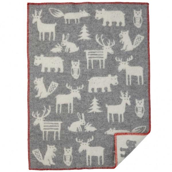 Forest grå ekologisk ullfilt 65x90