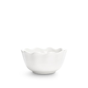 Vit ostronskål mini 13cm