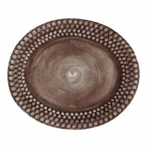 Plommon Bubbles Fat ovalt, 35cm
