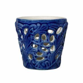 Blå spets ljuslykta 7cm