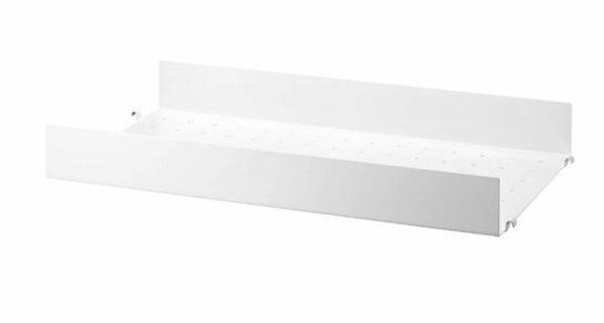 Metallhyllplan hög kant b58 x d30 cm 1-pack 58x7x30 Vit