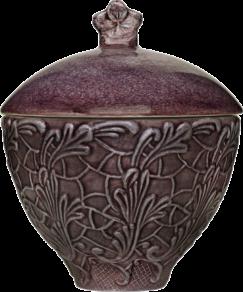 Plommon spets skål med lock 60cl