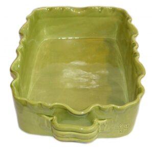 Gerbera Rektangulär Gratängform Provence Mossgrön L:27 B:18 H:8 cm