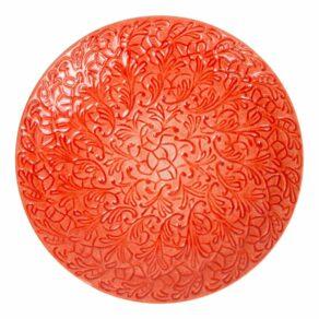 Orange fat helspets, 34cm