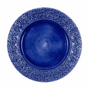 Blå spets tallrik 32cm
