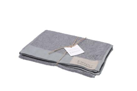 Handduk 50×70 linne/bomull grå