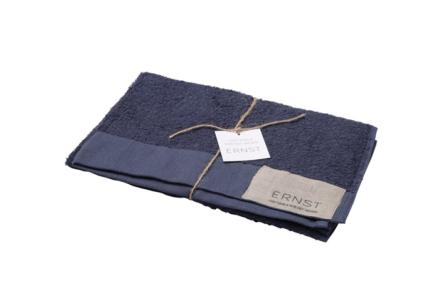 Handduk 50×70 linne/bomull blå