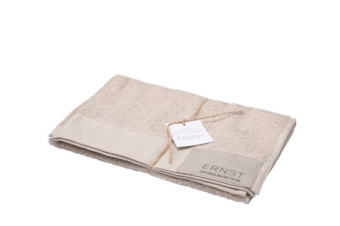 Ernst Handduk 50x70 linne/bomull beige